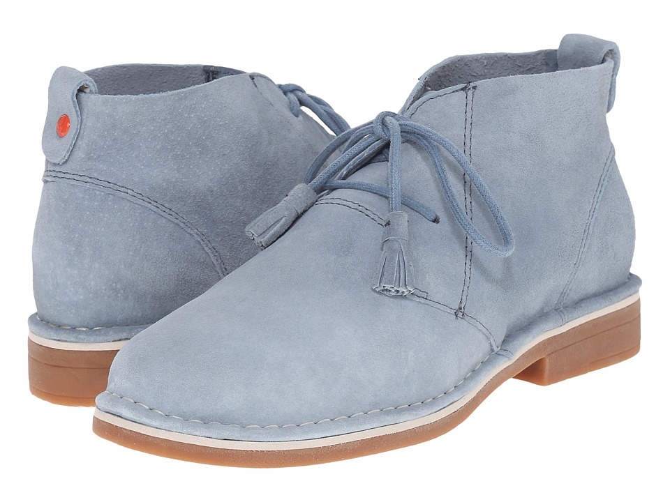 Hush Puppies Cyra Catelyn Blue Suede Womens Lace up Boots