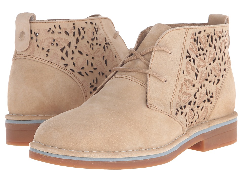 Hush Puppies Cyra Catelyn II Chino Tan Perf Suede Womens Lace up casual Shoes