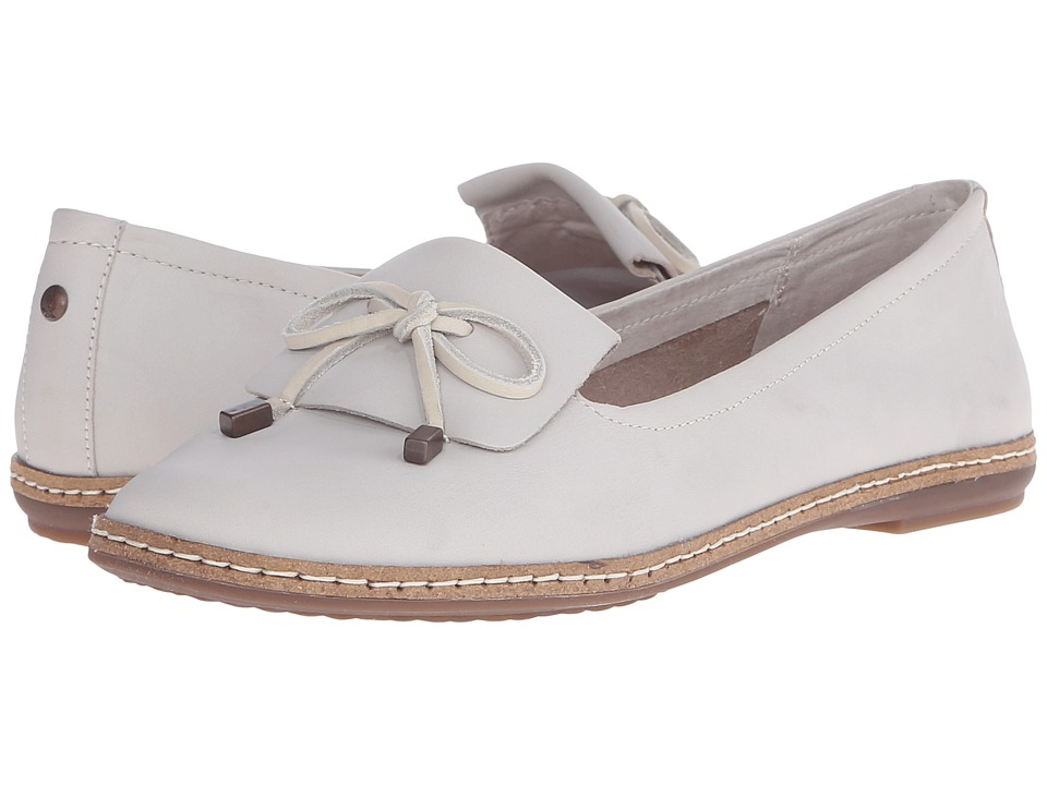 Hush Puppies Adena Piper Off White Leather Womens Slip on Shoes