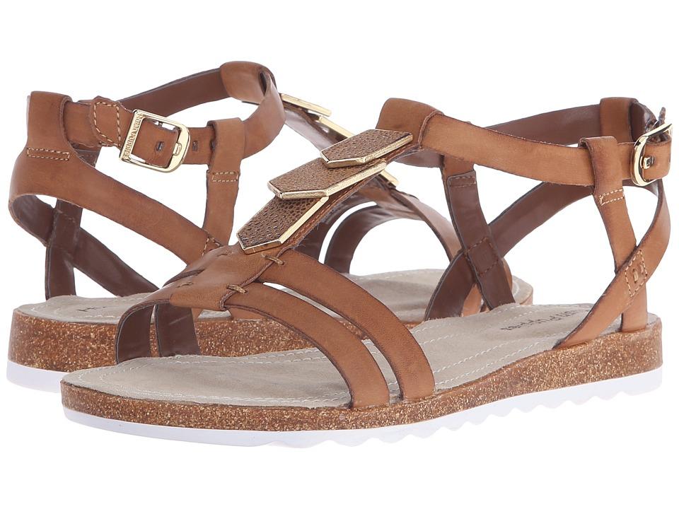 Hush Puppies Bretta Jade Tan Leather Womens Sandals