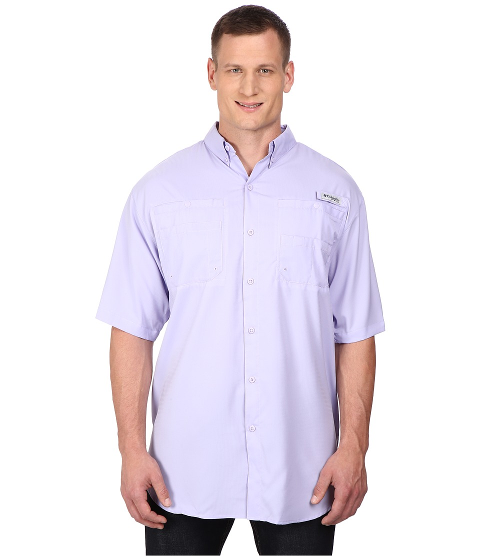 Columbia Tamiami II S/S Tall Whitened Violet Mens Short Sleeve Button Up