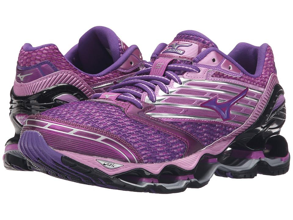 Mizuno Wave Prophecy 5 Hyacinth Violet/Royal Purple/Black Womens Running Shoes