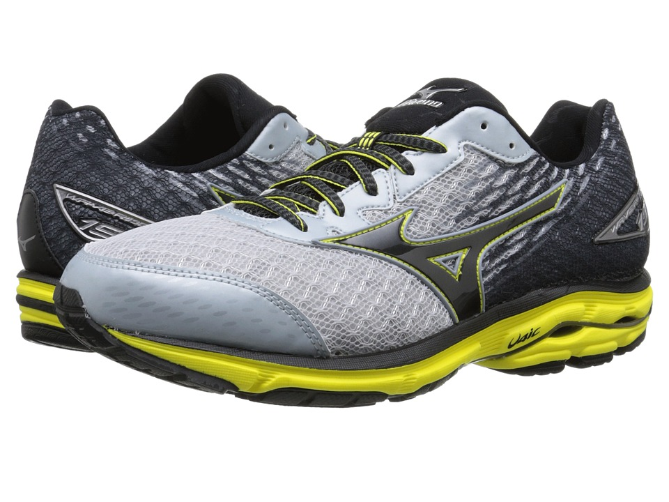 Mizuno - Wave Rider 19 (Pearl Blue/Black/Bolt) Men