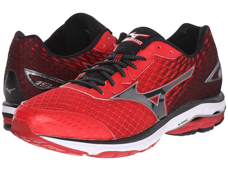 Mizuno - Wave Rider 19 (Chinese Red/Black/White) Men