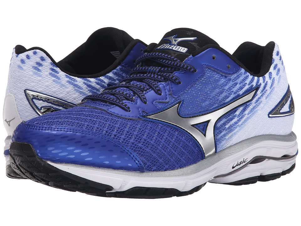 Mizuno - Wave Rider 19 (Surf the Web/Silver/Black) Men