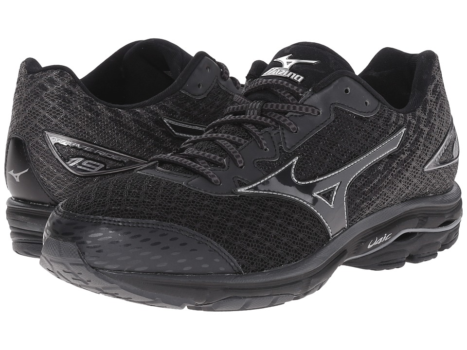 Mizuno - Wave Rider 19 (Black/Dark Shadow/Black) Men