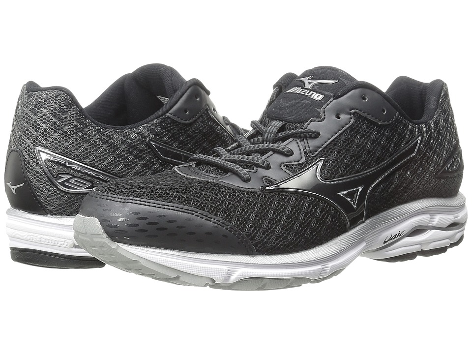 Mizuno - Wave Rider 19 (Black/White/Dark Shadow) Women
