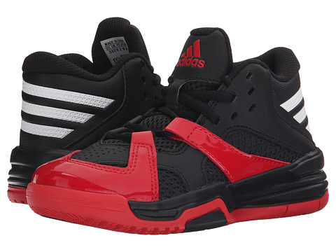 adidas Kids First Step (Little Kid/Big Kid) - Black/White/Scarlet