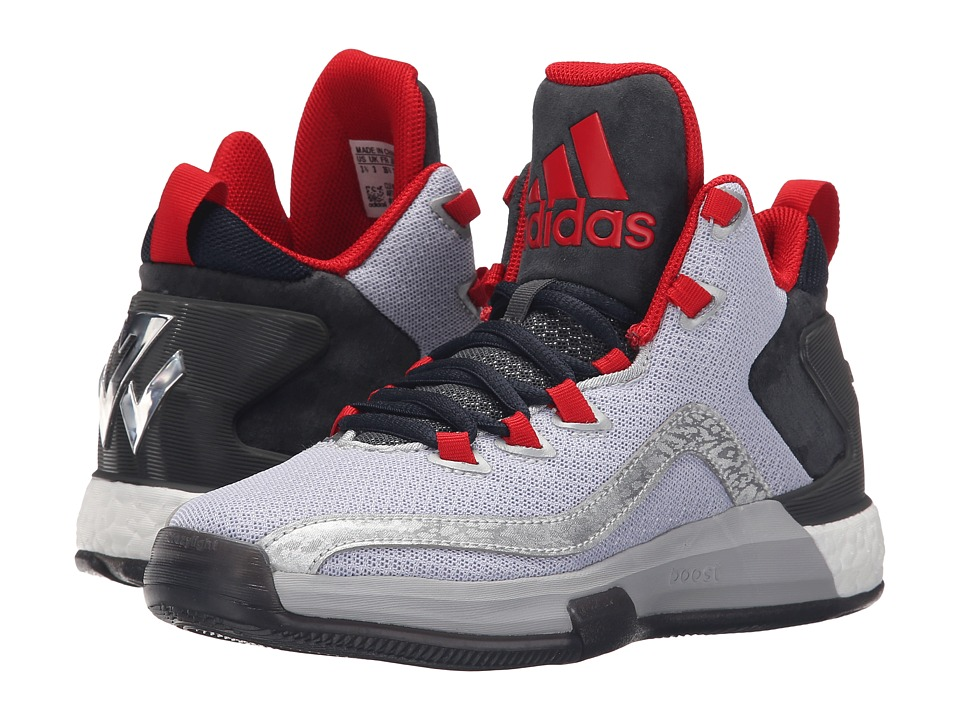 adidas Kids - J Wall 2 Boost (Big Kid) (Metallic Silver/Dark Grey/Scarlet) Boys Shoes