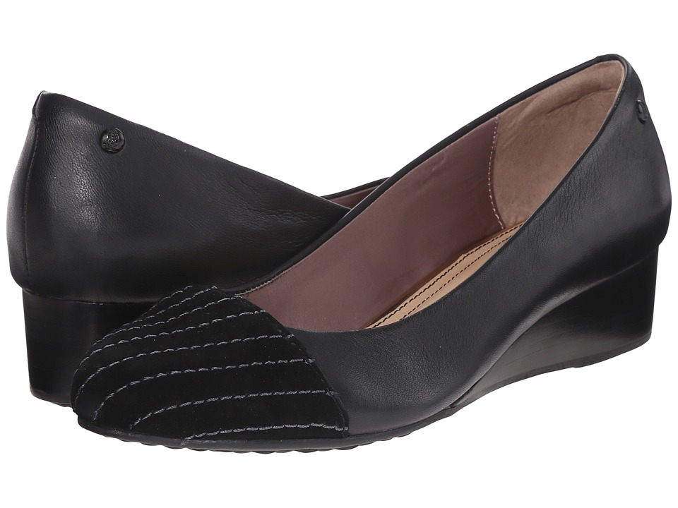 Hush Puppies Britt Admire Black Leather/Suede Womens Flat Shoes