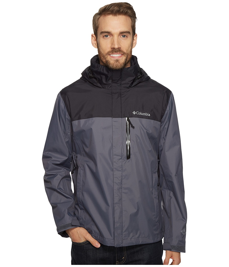 Columbia - Pourationtm Jacket (Graphite/Black) Men's Coat