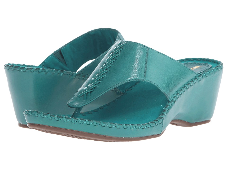Hush Puppies Aven Copacabana Turquoise Leather Womens Sandals