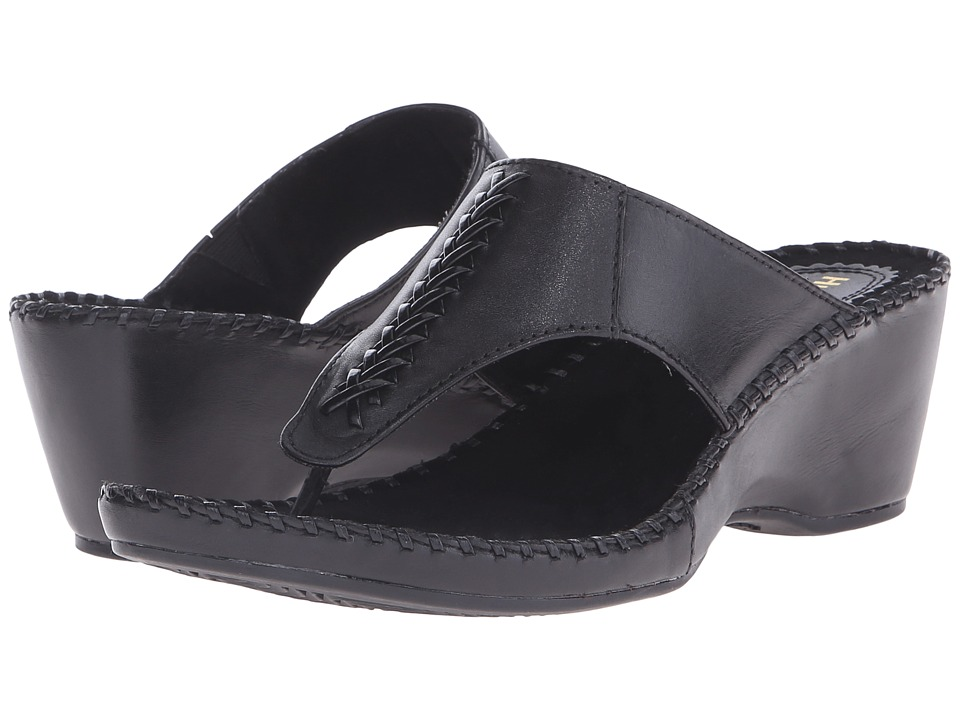 Hush Puppies Aven Copacabana Black Leather Womens Sandals