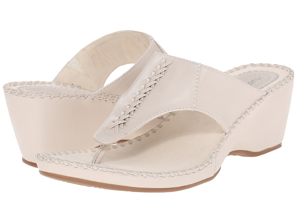 Hush Puppies Aven Copacabana Off White Leather Womens Sandals