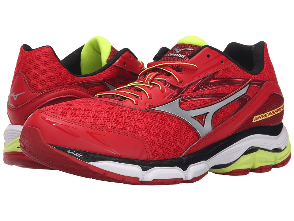 Mizuno - Wave Inspire 12 (Chinese Red/Silver/Safety Yellow) Men