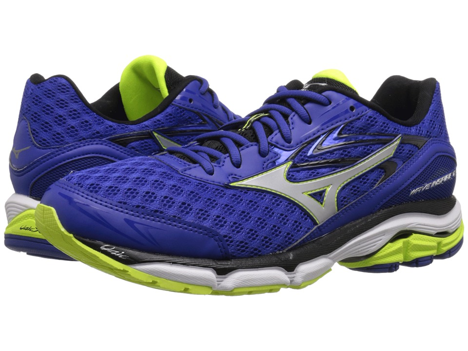 Mizuno - Wave Inspire 12 (Surf the Web/Silver/Safety Yellow) Men