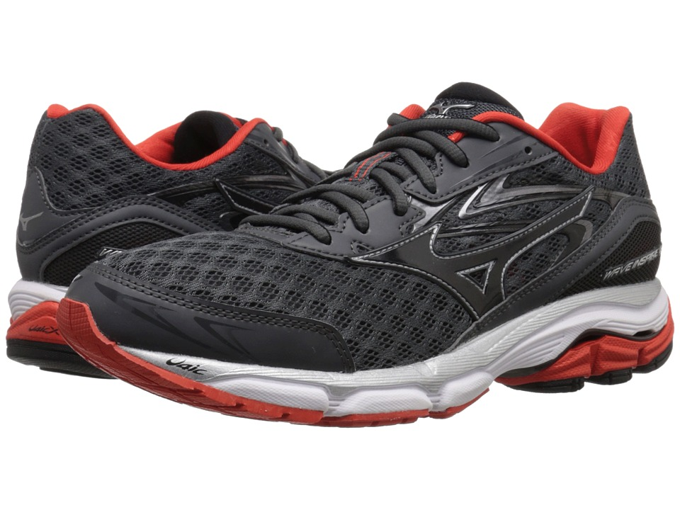 Mizuno - Wave Inspire 12 (Dark Shadow/Black/Fiesta) Men