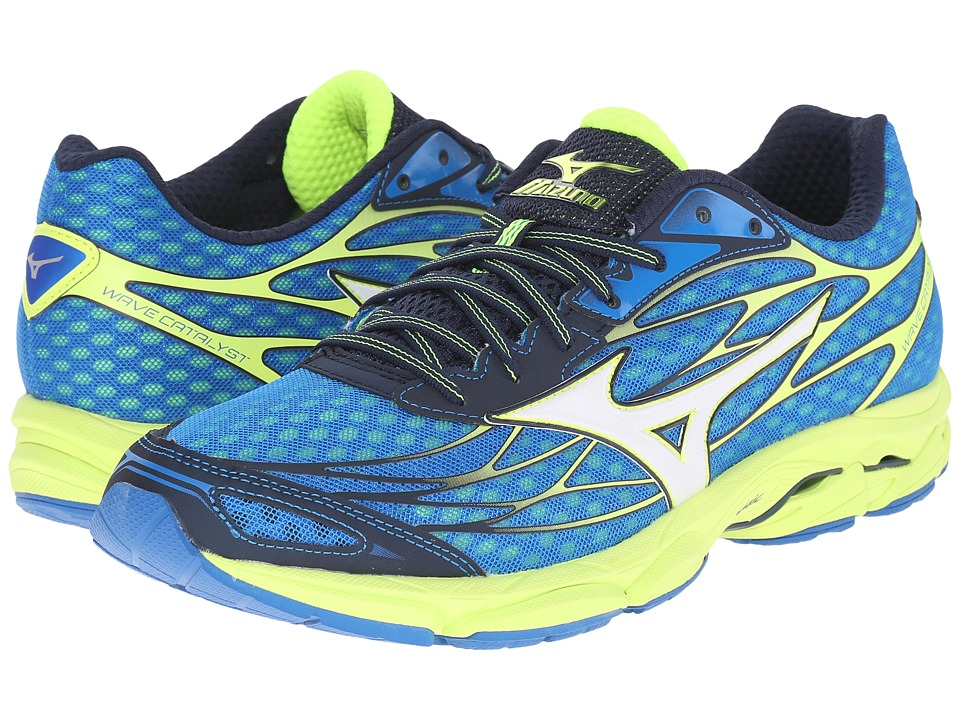 Mizuno Wave Catalyst Directoire Blue/White/Safety Yellow Mens Running Shoes