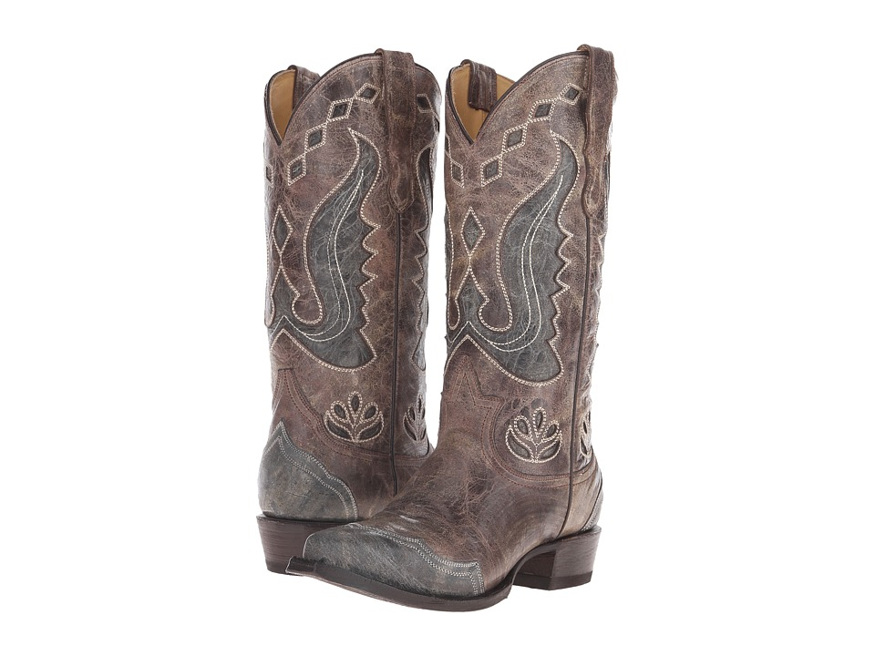 Stetson - Hannah Snip (Crackle Brown) Cowboy Boots