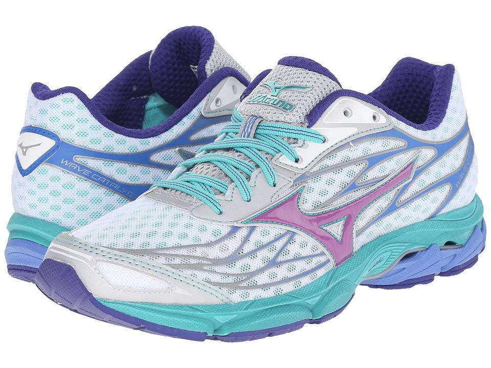 Mizuno Wave Catalyst White/Hyacinth Violet/Atlantis Womens Running Shoes