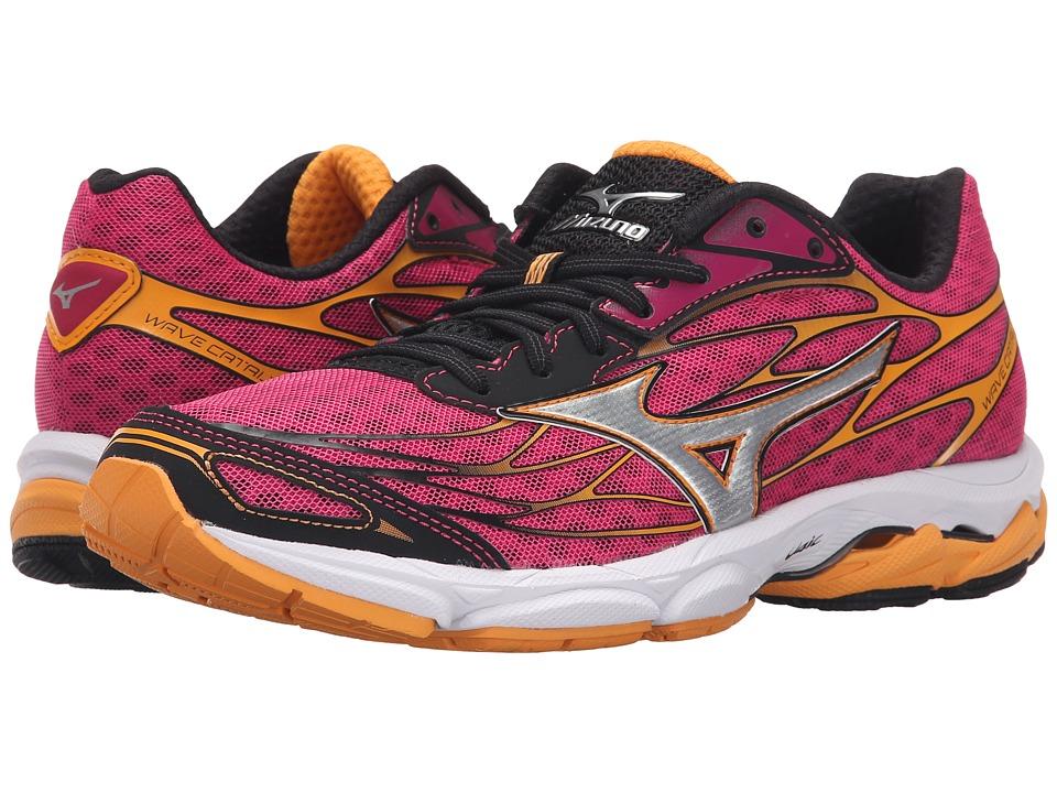 Mizuno Wave Catalyst Fuchsia Purple/Silver/Blazing Orange Womens Running Shoes