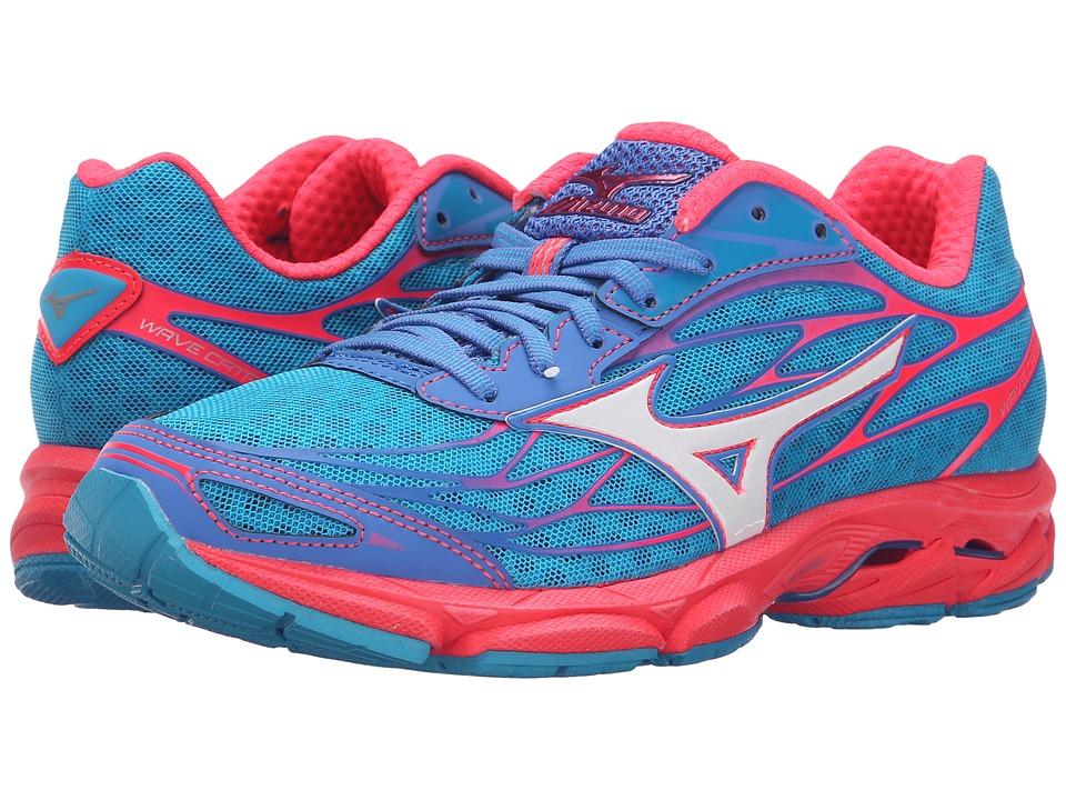 Mizuno Wave Catalyst Atomic Blue/White/Diva Pink Womens Running Shoes