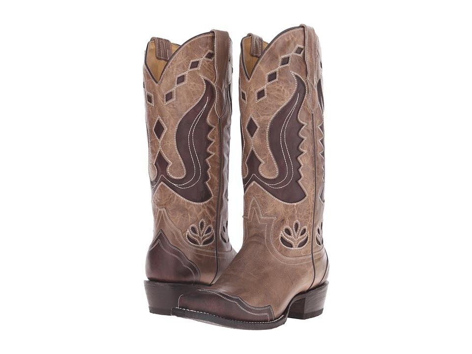 Stetson - Hannah Snip (Antique Brown) Cowboy Boots