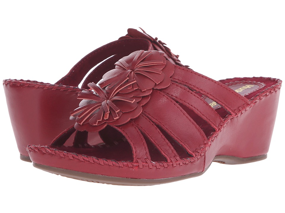 Hush Puppies Gallia Copacabana Dark Red Leather Womens Sandals