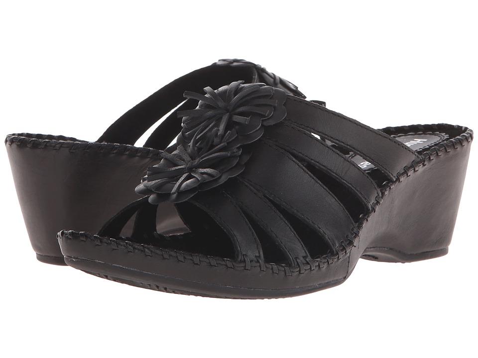 Hush Puppies Gallia Copacabana Black Leather Womens Sandals