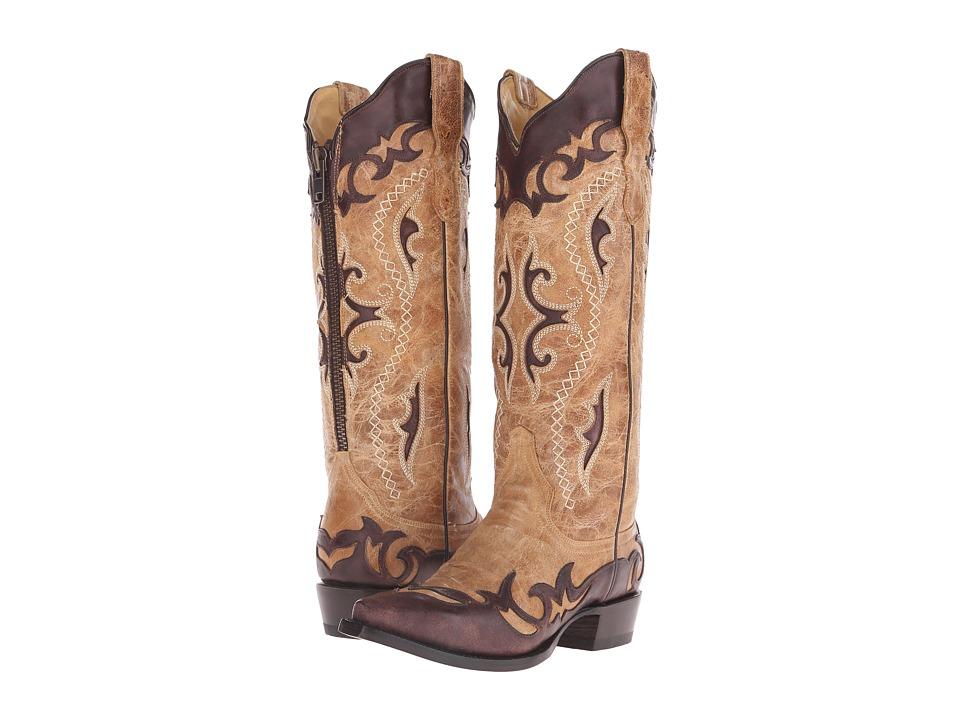 Stetson - Vivi Narrow (Crackled Tan) Cowboy Boots