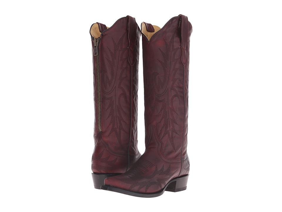 Stetson - Violet (Burgundy Vamp) Cowboy Boots