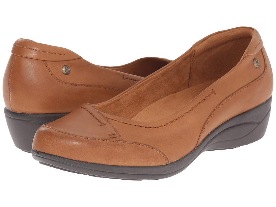 Hush Puppies Kellin Oleena Tan Leather Womens Slip on Shoes
