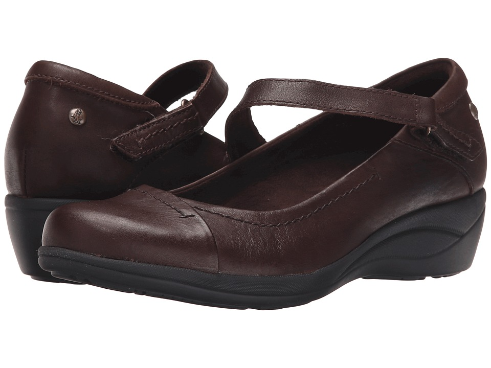 Hush Puppies - Blanche Oleena (Dark Brown Leather) Women