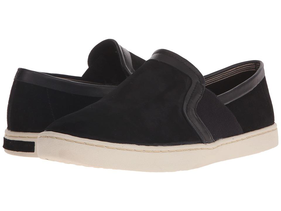 Hush Puppies Cherish Gwen Black Suede Womens Slip on Shoes