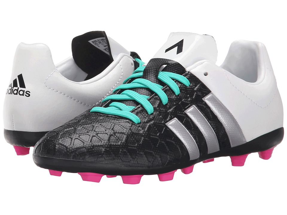 adidas Kids Ace 15.4 FxG Toddler/Little Kid/Big Kid Black/Matte Silver/Shock Mint Kids Shoes