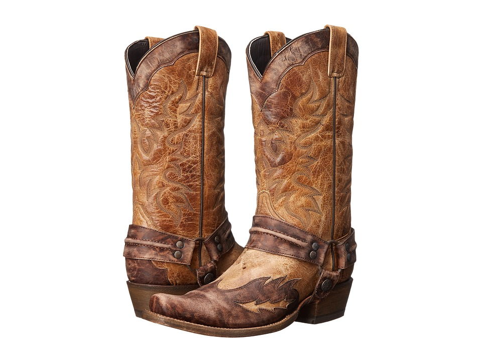 Stetson - Sundance Kid Outlaw (Washed Crater Brown) Cowboy Boots