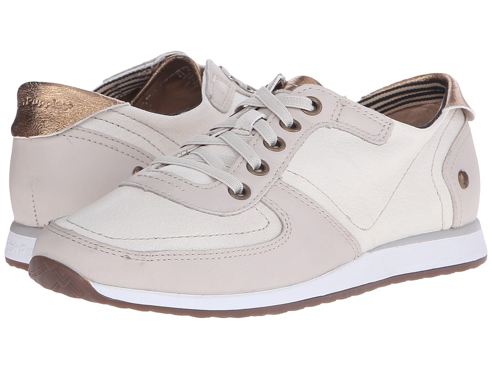 Hush Puppies Chazy Dayo Off White Leather Womens Lace up casual Shoes