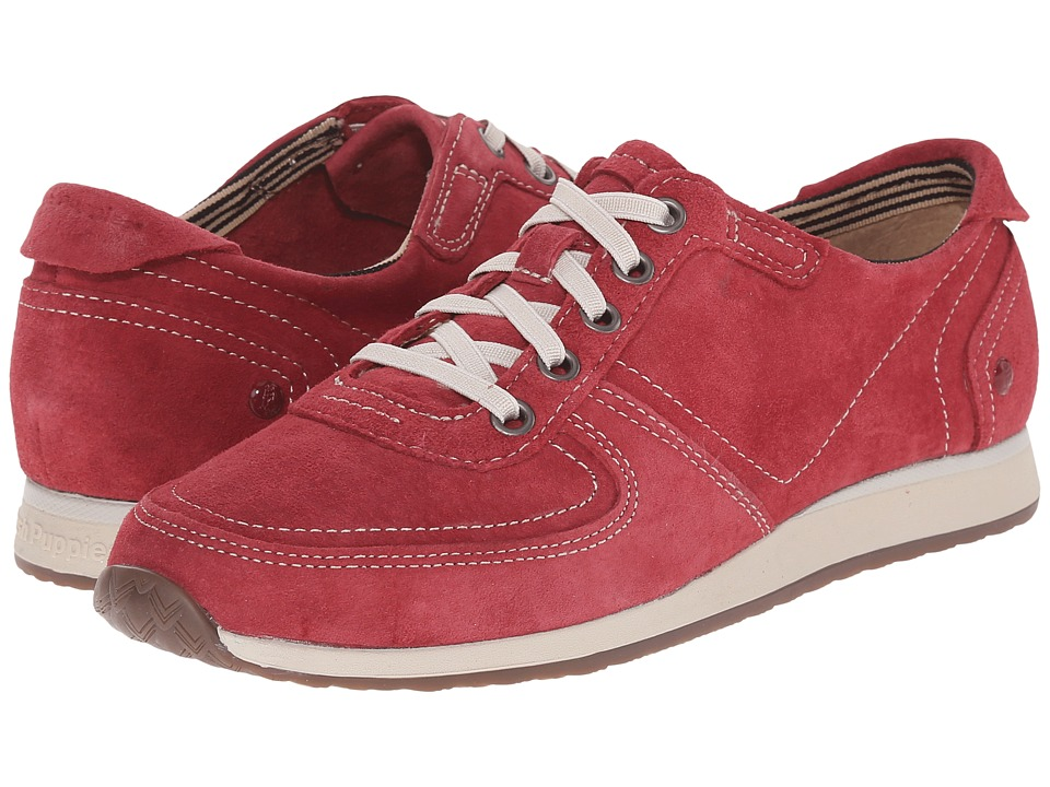 Hush Puppies Chazy Dayo Dark Red Suede Womens Lace up casual Shoes