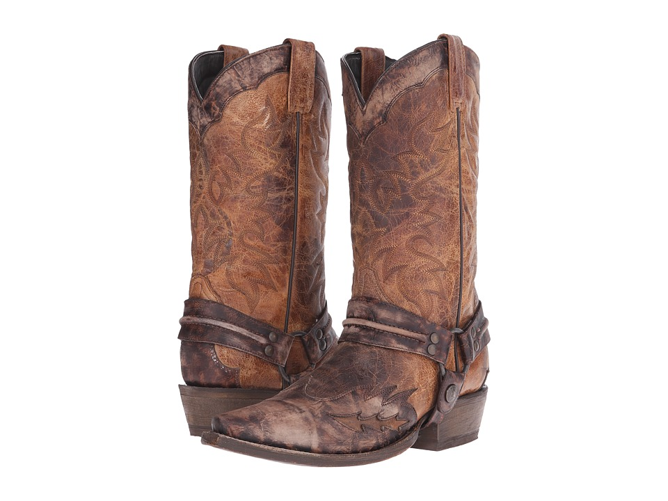 Stetson - Averell Snip (Washed Crater Brown) Cowboy Boots