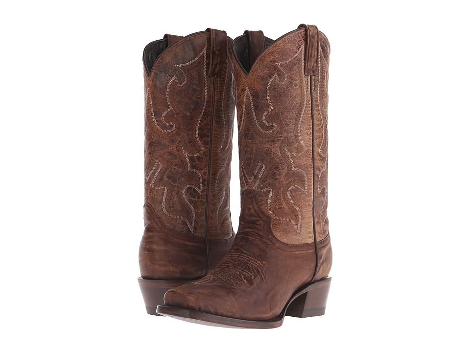Stetson - Harshaw (Distressed Brown Vamp) Cowboy Boots