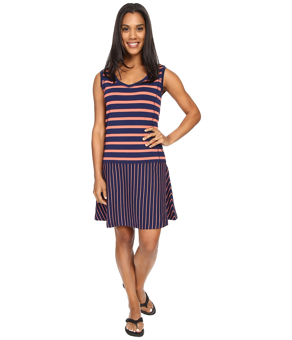 Lole Arleta Dress Mirtillo Blue Stripe Womens Dress