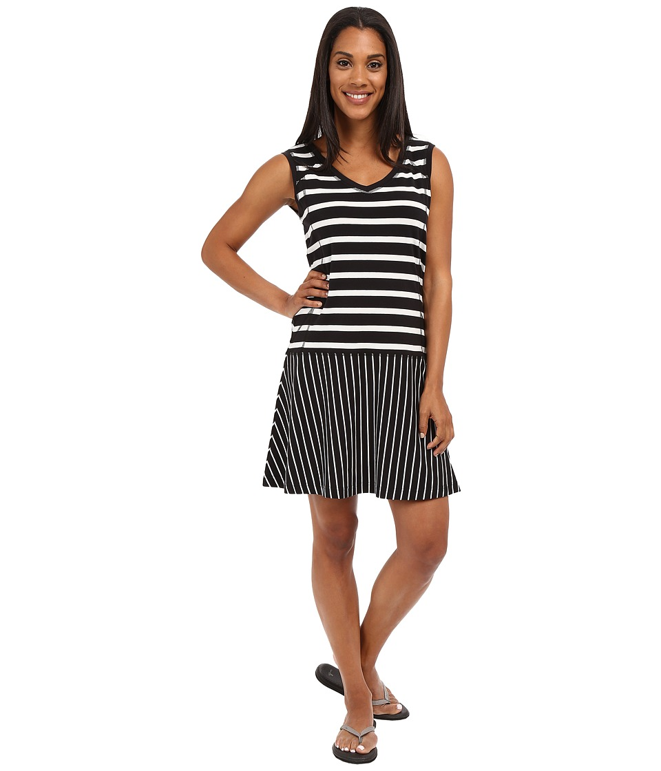 Lole Arleta Dress Black Stripe Womens Dress