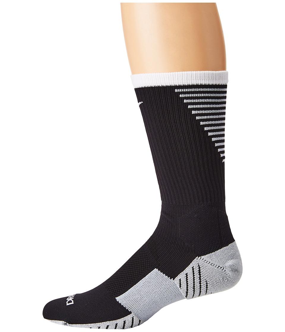 Nike - Nike Stadium Football Crew (Black/White/White) Mens Crew Cut Socks Shoes