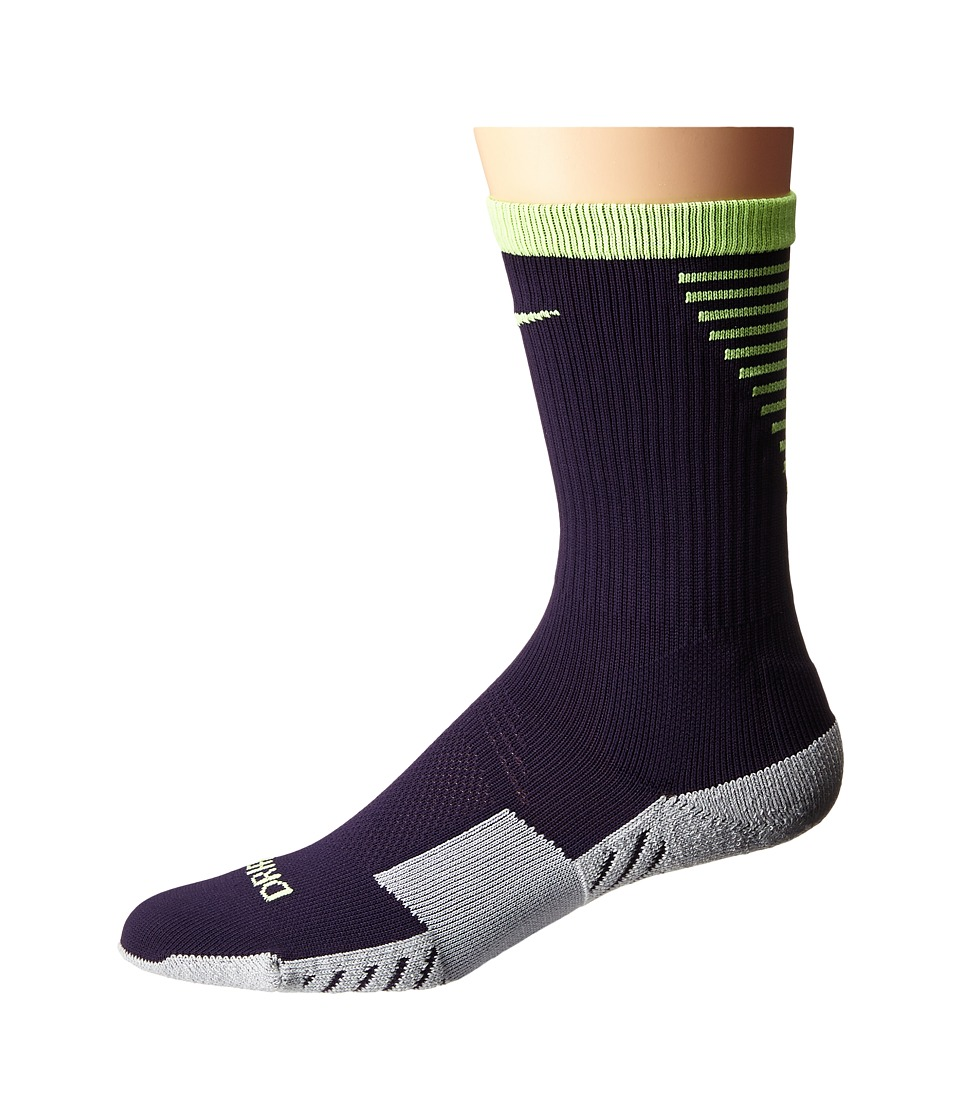 Nike Nike Stadium Football Crew Purple Dynasty/Ghost Green/Ghost Green Mens Crew Cut Socks Shoes