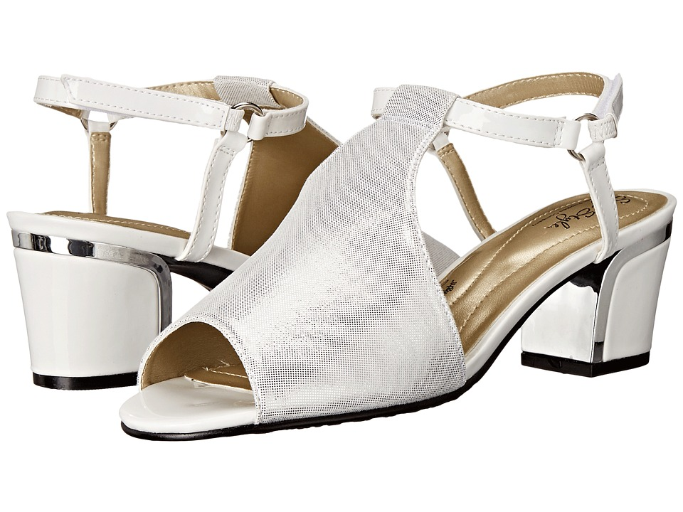 Soft Style Dalyne White Sparkle Shine/Silver Heel Womens Shoes