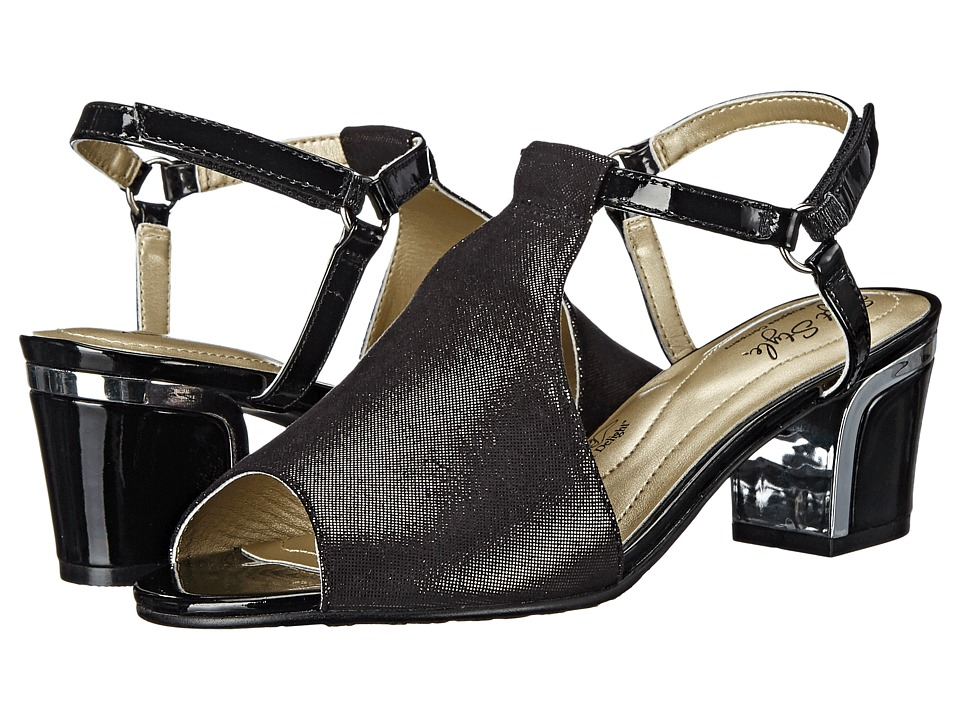 Soft Style Dalyne Black Sparkle Shine/Silver Heel Womens Shoes