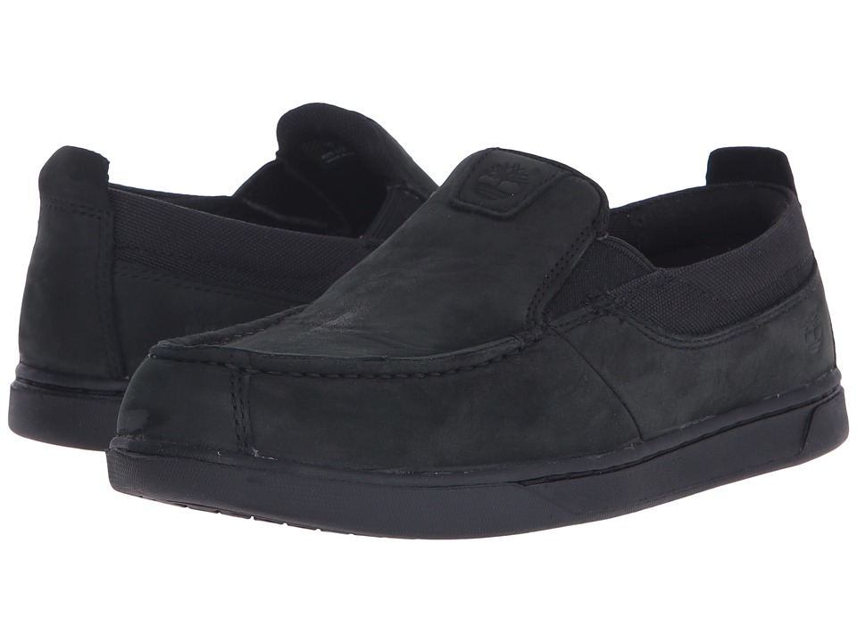 Timberland Kids - Groveton Fabric and Leather Slip-On (Big Kid) (Blackout) Boys Shoes