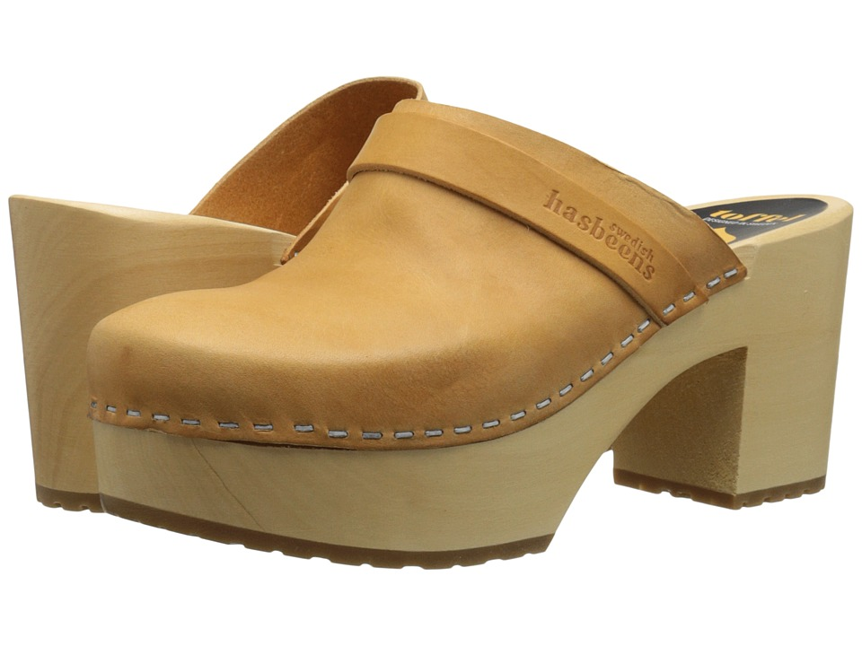 Swedish Hasbeens - Louise (Nature) Womens Clog Shoes