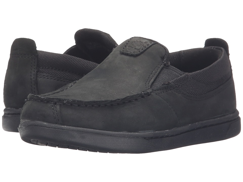 Timberland Kids - Groveton Fabric and Leather Slip-On (Toddler/Little Kid) (Blackout) Boys Shoes