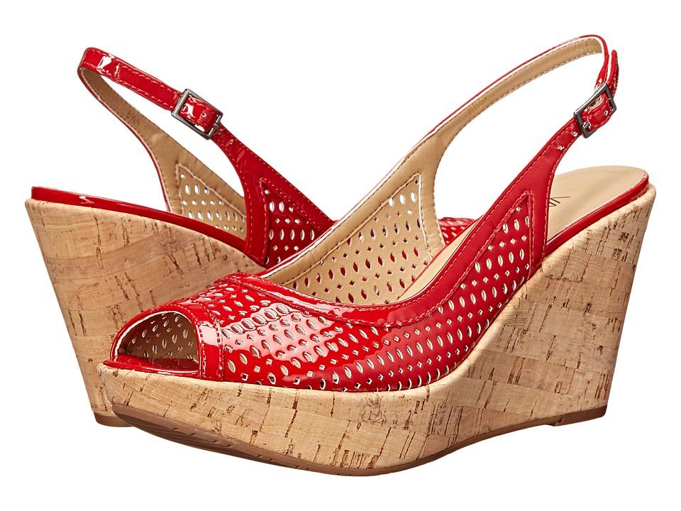 Vaneli Emine Red Mag Patent Womens Wedge Shoes